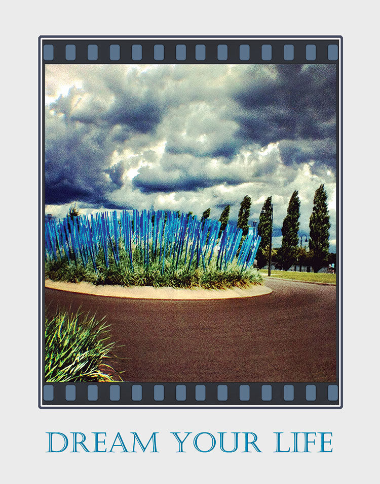 Blue Landscape greeting card. Photography by Kathryn Hanson, ShutteredEye.