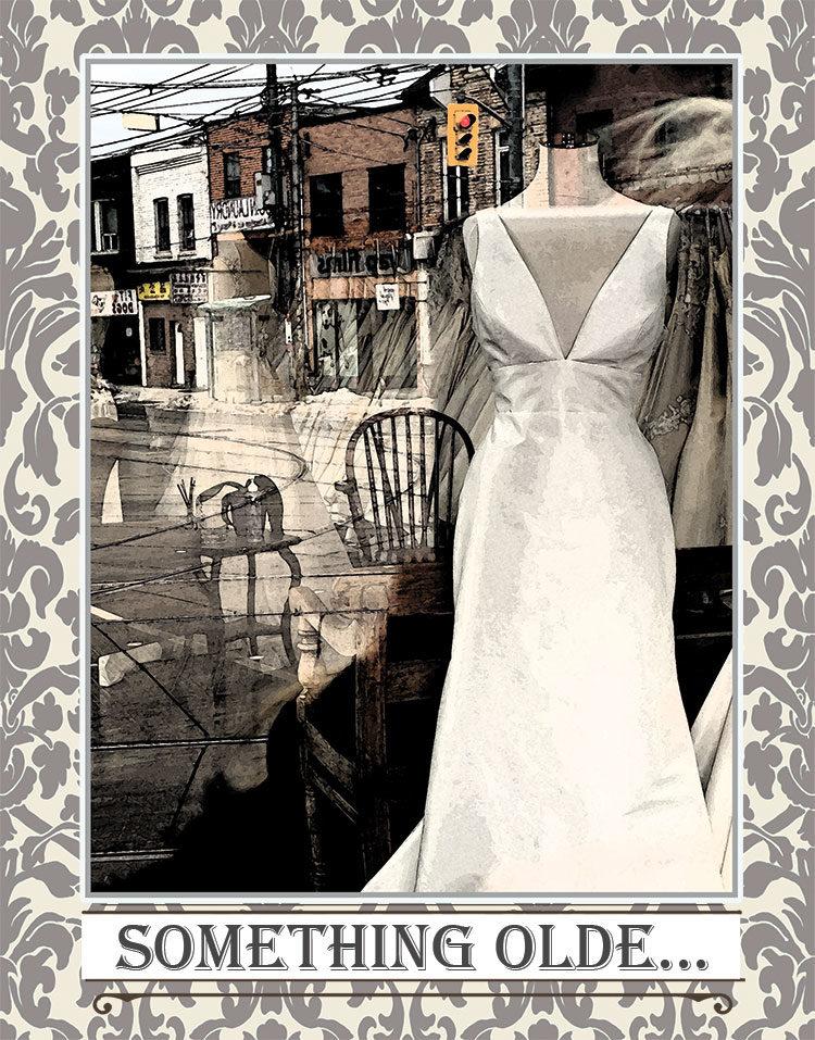 Stop Light Dress greeting card. Photography by Kathryn Hanson, ShutteredEye.