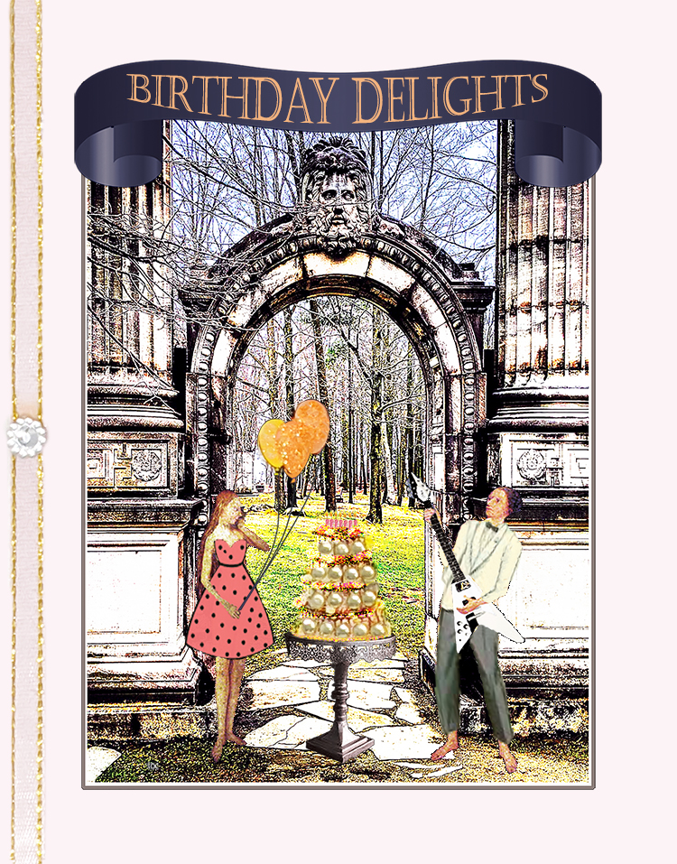 Garden of Delights, Guild Inn, Scarborough greeting card by ShutteredEye.
