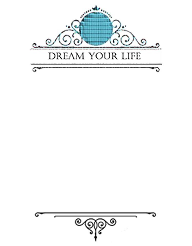 Dream Your Life message for inside card. Kathryn Hanson, ShutteredEye.