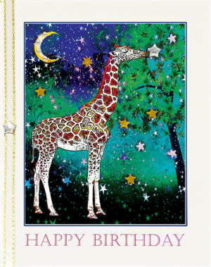 The Giraffe: Wish on a Star greeting card by Kathryn Hanson, ShutteredEye.