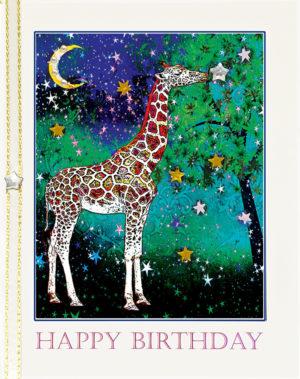 The Giraffe: Wish on a Star greeting card by Kathryn Hanson, ShutteredEye.