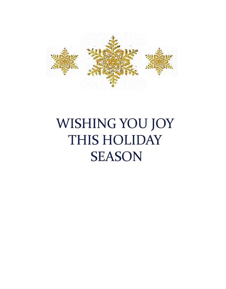 Wishing you joy this holiday season message for inside card. Kathryn Hanson, ShutteredEye.