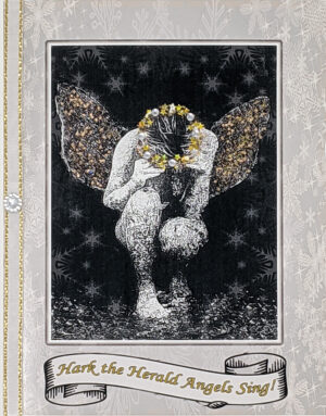 Hark the Herald Angels Sing greeting card. Photography and design by Kathryn Hanson, ShutteredEye.