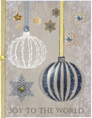 Winter Globes greeting card. Design by Kathryn Hanson, ShutteredEye.